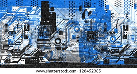 Computer technology background - stock photo