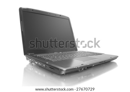 computer technology.  laptop isolated on white background