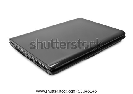 computer technology. modern laptop isolated on white background