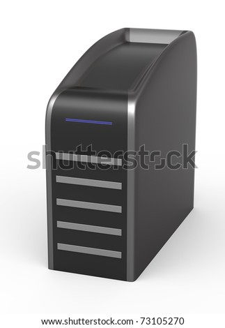 Computer tower - stock photo