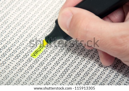 Computer virus detection. Heartbleed bug concept, - stock photo