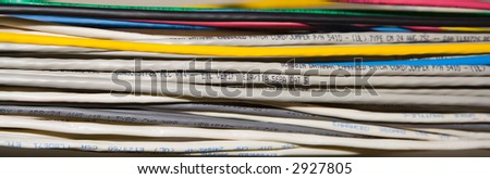 Computer Wires - stock photo