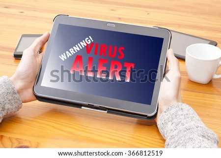 computer with adult content site - stock photo