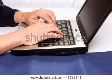 computer work - stock photo