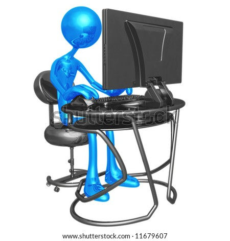 Computer Work Station - stock photo