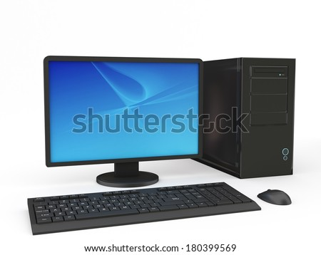 Computer Workstation - stock photo