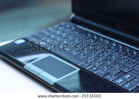 computers in IT office - stock photo