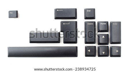 Computers' keyboard parts. - stock photo