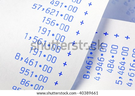 Computing stripes with numbers. Icon for costs, expenses, revenues and profits. - stock photo