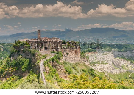 Comune of Bagnoregio near Viterbo, Lazio - Italy - stock photo