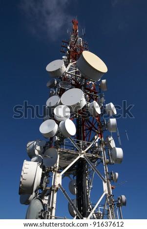 Comunication tower - stock photo