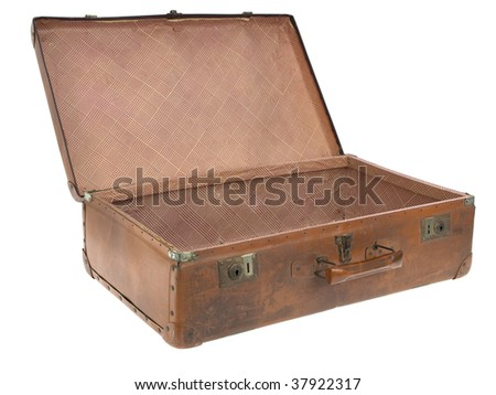 Concentration camp open luggage - stock photo