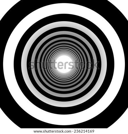 concentric circles - stock photo