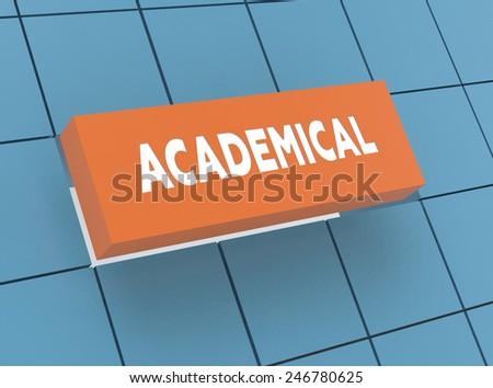 Concept ACADEMICAL - stock photo