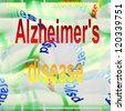Concept  Alzheimer's disease, Dementia (Alzheimer) - stock photo