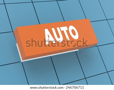 Concept AUTO - stock photo