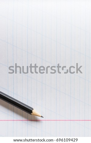 Concept Background Picture Of Education, Study, School, Work.  Loose Leaf Paper Background