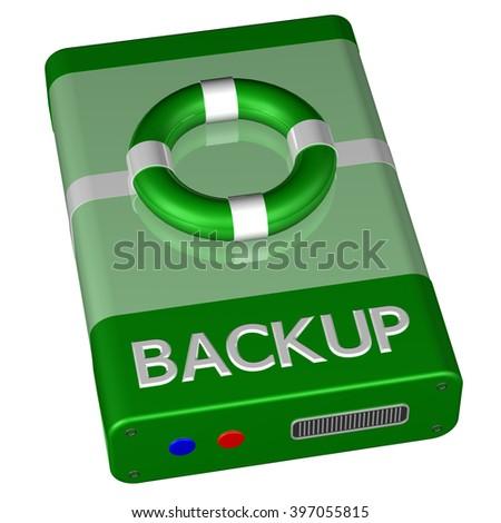 Concept - Backup, isolated on white background. - stock photo