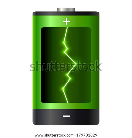 Concept battery power - stock photo