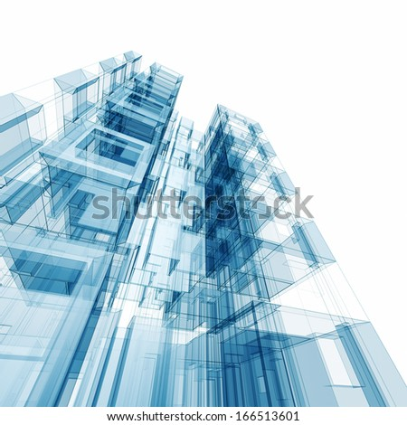 Concept building.  - stock photo