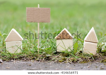 concept bulletin board associated with the real estate/House for sale or already sold - stock photo