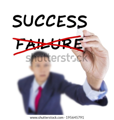 Concept business drawn aim for solution success on above whiteboard white background