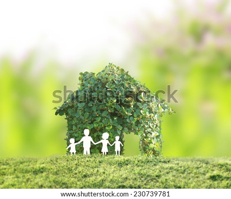 concept by house on the nature - stock photo