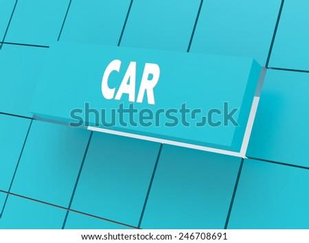 Concept CAR - stock photo
