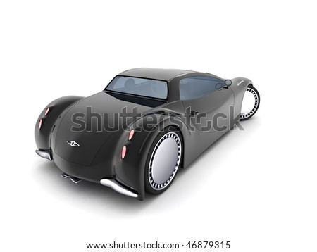 Concept car 3d model - stock photo