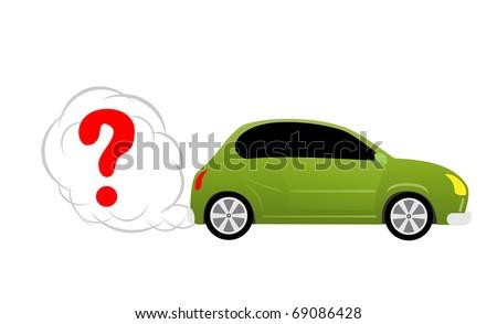Concept car image - stock photo