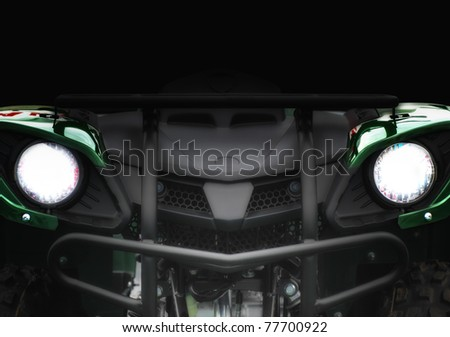 Concept car in the dark - stock photo