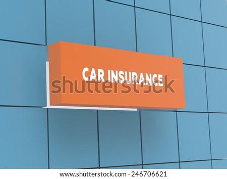 Concept CAR INSURANCE - stock photo