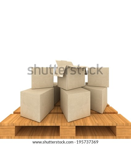 concept Cardboard boxes - stock photo