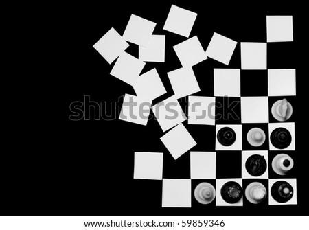 concept chess board - stock photo