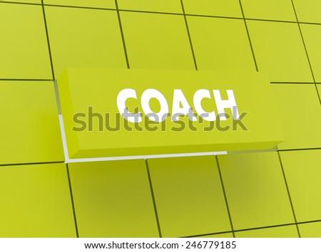 Concept COACH - stock photo