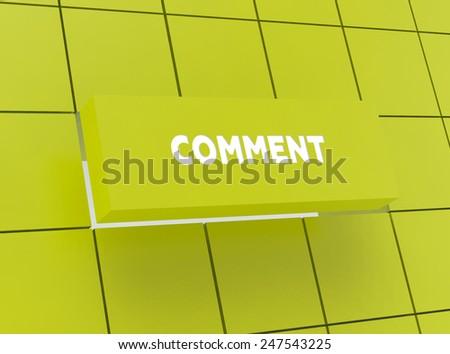 Concept COMMENT - stock photo