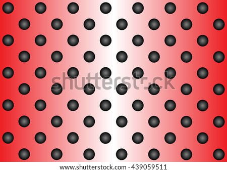Concept conceptual red abstract metal stainless steel aluminum perforated pattern texture mesh background as metaphor to industrial, abstract, technology, grid, silver, grate, spot, grille surface - stock photo