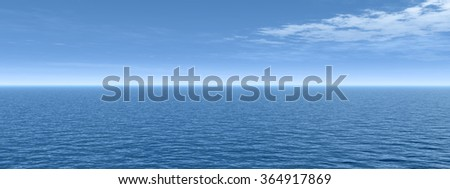 Concept conceptual sea ocean water waves and sky cloudscape exotic or paradise background banner metaphor to nature, peace, summer, travel, tropical, tourism, environment, vacation or holiday seascape