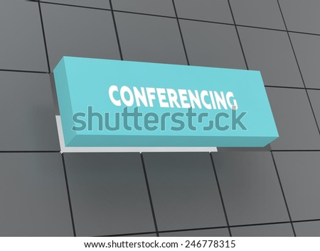 Concept CONFERENCING - stock photo