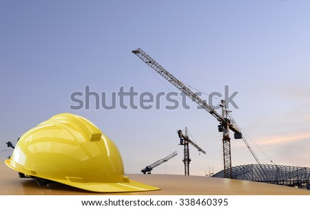 Concept : construction site work safety. - stock photo