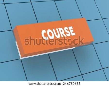Concept COURSE - stock photo
