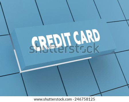 Concept CREDIT CARD - stock photo