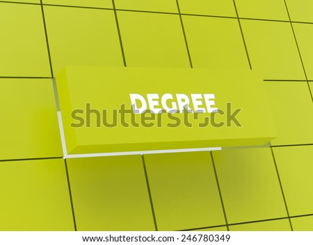 Concept DEGREE - stock photo