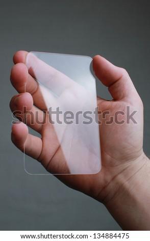 concept design of Futuristic Transparent Mobile - stock photo