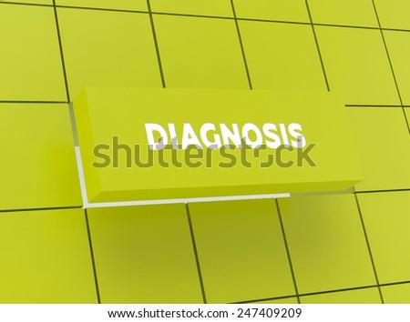 Concept DIAGNOSIS - stock photo