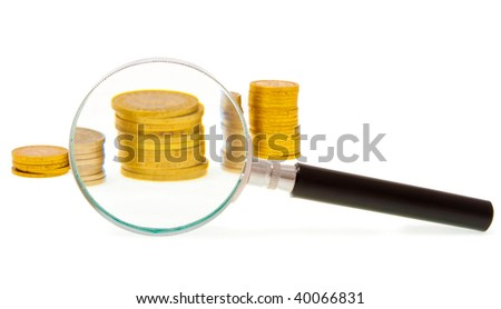 """Concept """"Examine of earnings diagram"""" - stock photo"""
