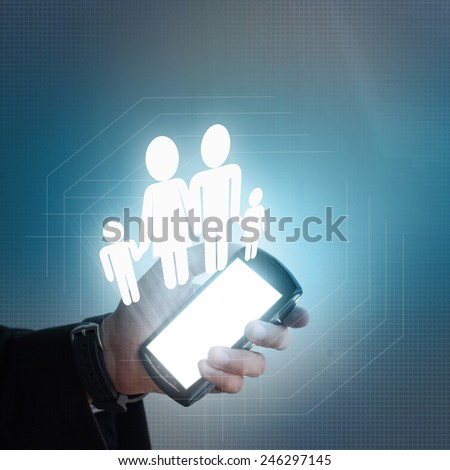 Concept family protection - stock photo