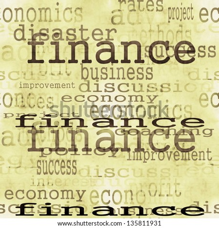 concept finance, old halftone newspaper texture