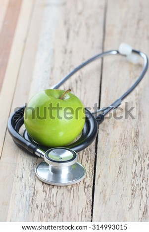 Concept for diet, healthcare, nutrition or medical insurance - stock photo