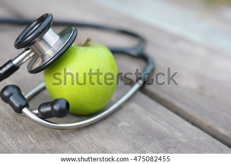 Concept for diet, healthcare, nutrition or medical insurance. selective focus